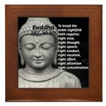 Buddha Education of Mind Framed Tile