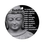 Buddha Education of Mind Ornament (Round)