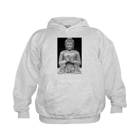 Buddha Education of Mind Kids Hoodie