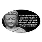 Buddha Education of Mind Oval Sticker