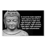 Buddha Education of Mind Rectangle Sticker