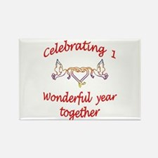 1st wedding anniversary Rectangle Magnet