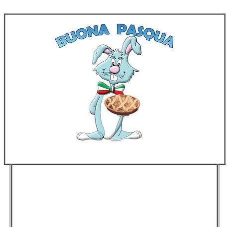 Italian Easter Bunny Yard Sign