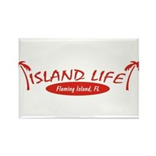 Island Life Rectangle Magnet