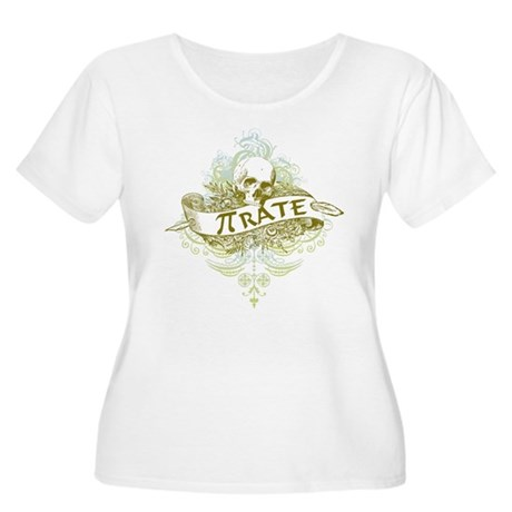 Pi-rate Skull Women's Plus Size Scoop Neck T-Shirt
