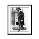 Churchill Fear of Truth Framed Panel Print