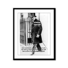 Churchill Fear of Truth Framed Panel Print