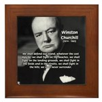 Churchill Fear of Truth Framed Tile
