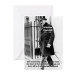 Churchill Fear of Truth Greeting Cards (Package of