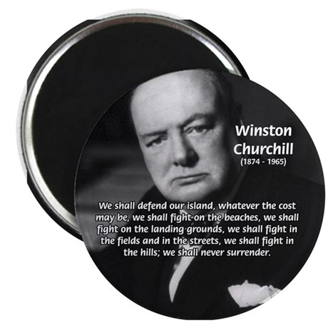 Churchill Fear of Truth Magnet