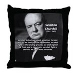 Churchill Fear of Truth Throw Pillow