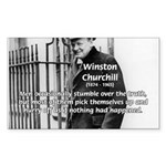 Churchill Fear of Truth Rectangle Sticker