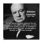 Churchill Fear of Truth Tile Coaster