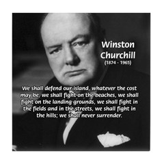 Churchill Fear of Truth Tile Coaster