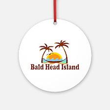 Bald Head Island NC - Sun and Palm Trees Design Or
