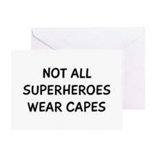 Not Superheroes Greeting Card
