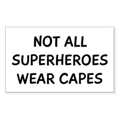 Not Superheroes Decal