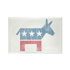 Vintage Democrat Donkey Rectangle Magnet (100 pack