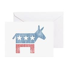 Vintage Democrat Donkey Greeting Cards (Pk of 10)