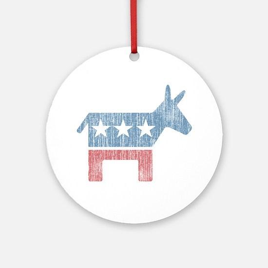 Vintage Democrat Donkey Ornament (Round)