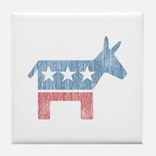 Vintage Democrat Donkey Tile Coaster