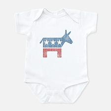 Vintage Democrat Donkey Infant Bodysuit