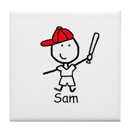 Baseball - Sam Tile Coaster