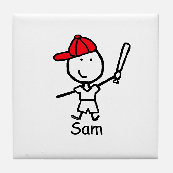 Baseball - Sam Tile Coaster