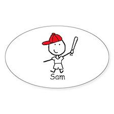 Baseball - Sam Oval Decal