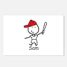 Baseball - Sam Postcards (Package of 8)