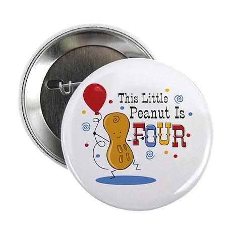 "Little Peanut 4th Birthday 2.25"" Button"