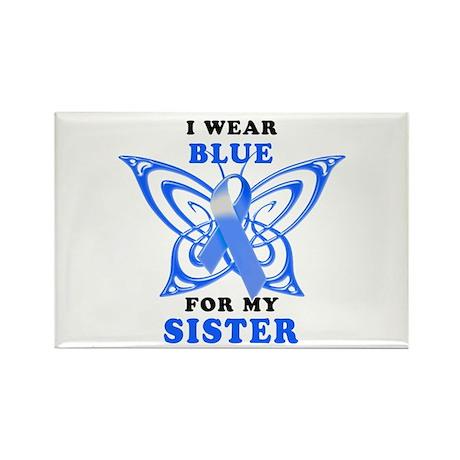 I Wear Blue for my Sister Rectangle Magnet