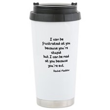 Rachel Maddow Stupid Evil Travel Mug