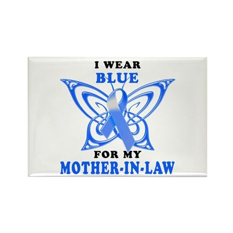 I Wear Blue for my Mother-In-Law Rectangle Magnet