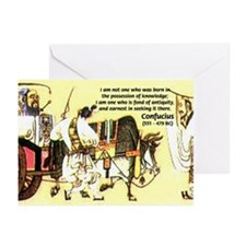 Knowledge Antiquity Confucius Greeting Cards (Pack