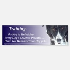 Training Potential:Border Collie Sticker (Bumper)
