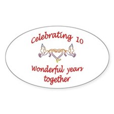ANNIVERSARY Oval Sticker (10 pk)