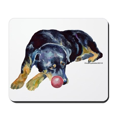 Rottweiller with Ball Mousepad