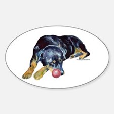 Rottweiller with Ball Decal
