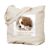 Cavalier king charles spaniel blenheim Canvas Tote Bag