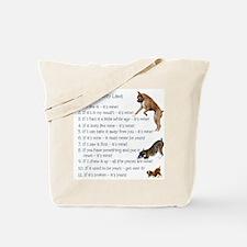 Boxer Rules Tote Bag