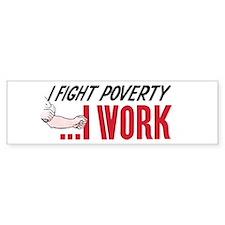 'Poverty' Bumper Bumper Sticker