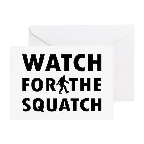 Watch Squatch Greeting Card