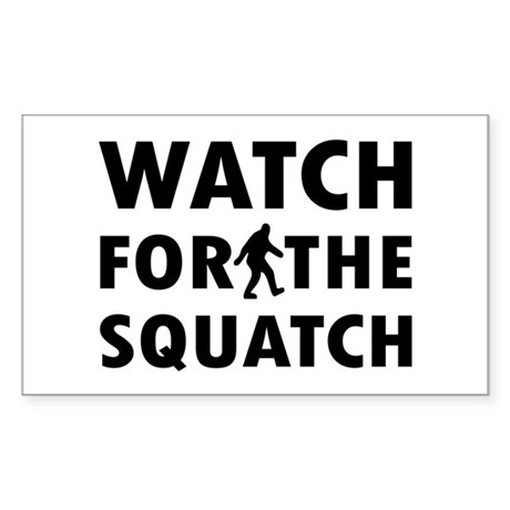 Watch Squatch Sticker (Rectangle)