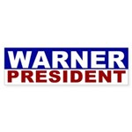 Mark Warner for President bumper sticker