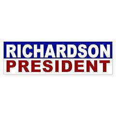 Bill Richardson for President bumper sticker
