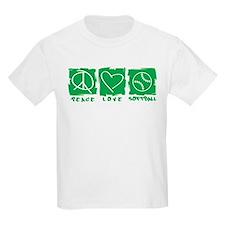 Peace.Love.Softball T-Shirt
