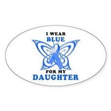 I Wear Blue for my Daughter Decal