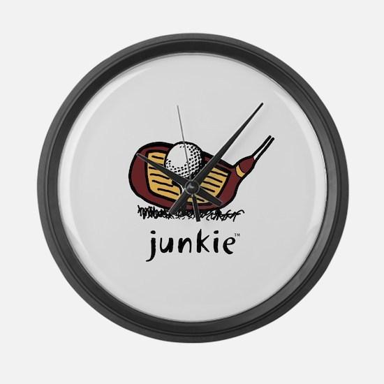 Golf Junkie Large Wall Clock