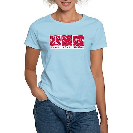 Peace.Love.Kickball Women's Light T-Shirt